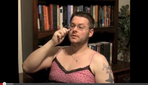 David Wood the Voyeur Wearing Women's Lingerie - Self Admitted Cross Dresser