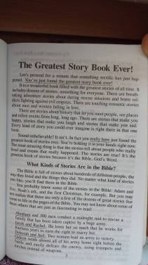 Page After Title Page - Greatest Story Book Ever