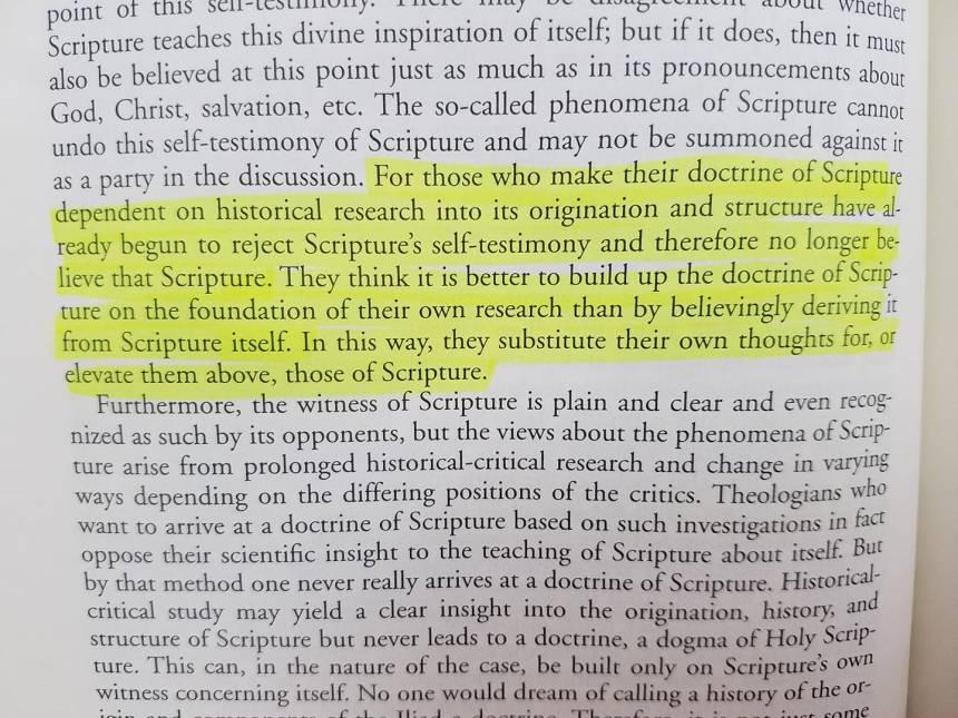 Bavinck on the self-testimony of Scripture (1--424)