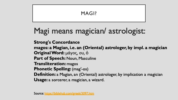 Magi Meaning in Strong's Lexicon